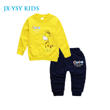 Spring Kids Clothing Animal Printing Hip Pop Costume for Boys Children Clothing Full Length Cotton Casual Toddler Girl Clothes(China)