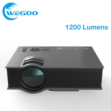 Projector UC46 Multimedia 1200 Lumens WiFi Wireless Portable LCD LED Home Theater Projector Support 1080P With IR/USB//HDMI/VGA(China)