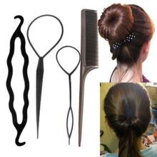 1Set Fashion Cute Women New Popular Hair Twist Styling Clip Stick Bun Maker Braid Tools Wedding Party Hair Accessories Hot