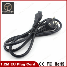 1.2M meters EU Plug cord for AC Laptop Power Adapter Charger Cable Universal 2 Prong 4FT European Russia Extension wholesale