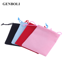 GENBOLI 20pcs/Set 12*10cm Velvet Gift Pouch Jewelry Packaging Drawstring Bag Stud Earring Ring Cufflink Watch Storage Wholesale(China)