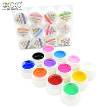 GDCOCO 12 Colors UV Painting Gel Kit #20200 CANNI Factory Nail Art Design Manicure Salon Nail Tips UV Lamp Paint Gel Lacquer(China)