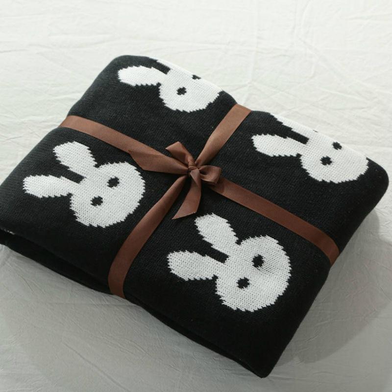 Baby Blanket Cama Crocheted Blanket For Kids Bedding Cross Rabbit Cotton Baby Covers Blanket Props Cobertor ledikant deken baby<br>