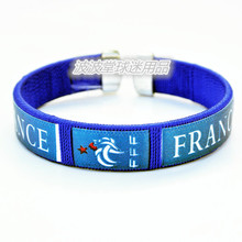 France national football team logo Bracelet exquisite Embroidery Line Bracelet Soccer wrist strap Football fans Wristband