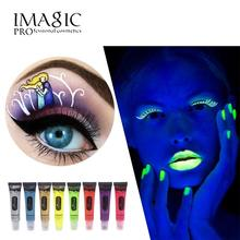 IMAGIC Halloween UV Face Body Paint professional Beauty Makeup Neon UV Bright Face Paint Fluorescent Rave Festival Body Paint(China)