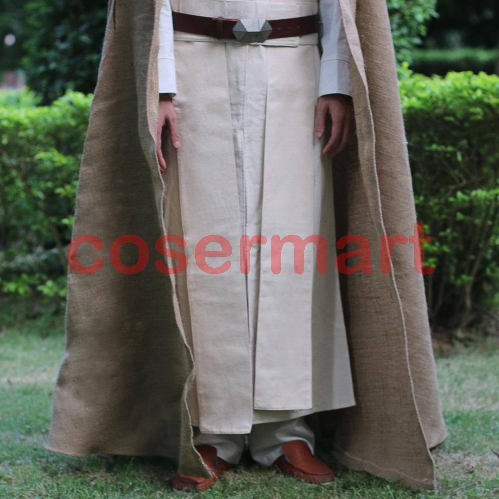 Free Shipping NEW Star Wars Jedi Luke Skywalker Custom Cosplay Costume Made Full Set COS Halloween Costume Christmas (6)