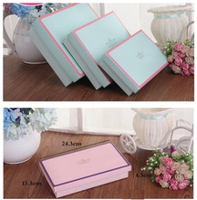 24.3*13.5*4.5cm Large pink cardboard boxes, Large pink green luxury craft paper box for shoes, storage carton box wholosale(China)