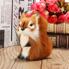 Lovely Mini Plush Furry Squirrel Ornament Decoration Adornment Toy Christmas Gift Home Decor Miniature for Kid Stuffed Plush Toy(China)