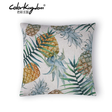Wholesale Refreshing plants Home Pillow Decoration Pineapple pattern Chair Pillow Stylish simplicity Pillow Cover