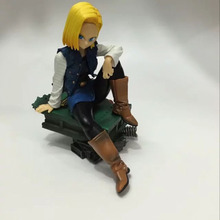 Anime Dragon Ball Z Android 18 Sitting position version Pvc Action Figure  Collection Model Figurine Toys doll for gift