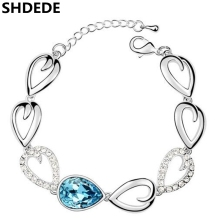 Crystal from Swarovski Charm Female Bracelets Jewelry Vogue Big Rhinestone Crystal Bracelets For Women 8960
