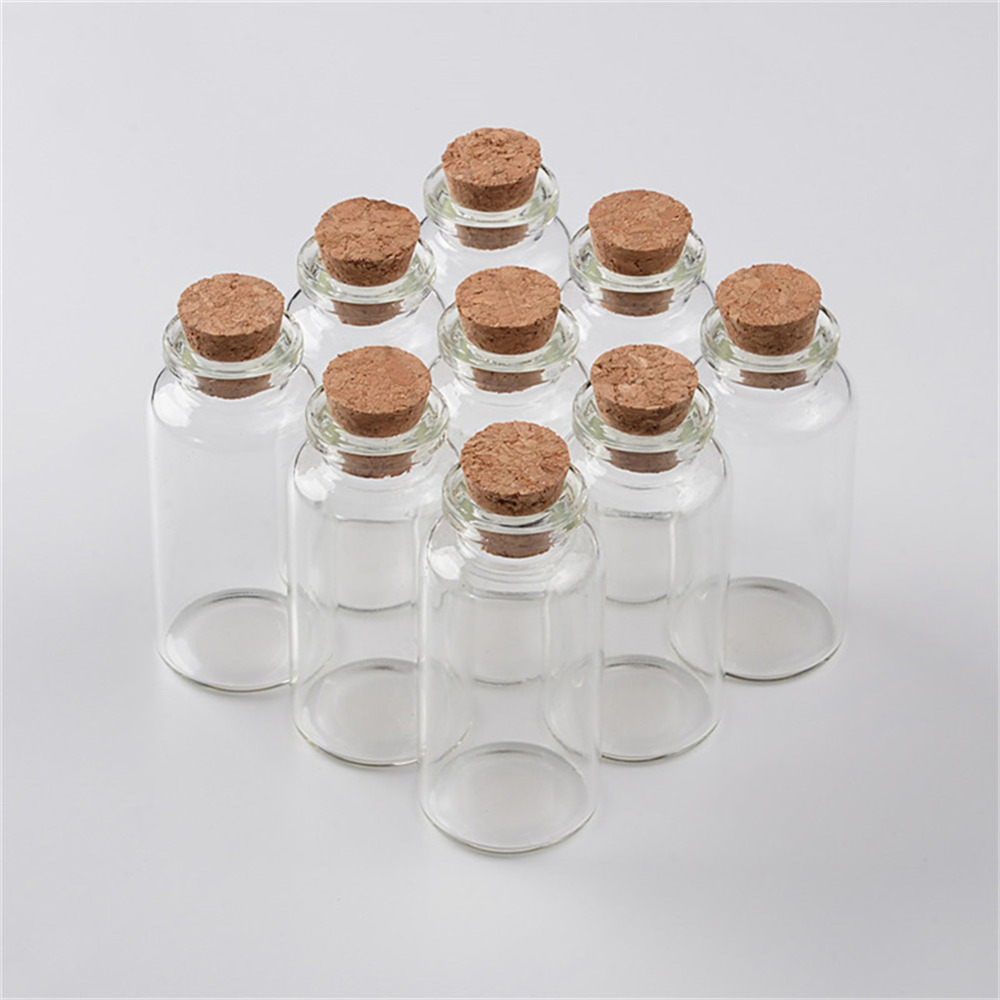 20ml Glass Bottles With Cork Small Transparent Mini Empty Glass Vials Jar