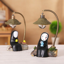 Studio Ghibli Spirited Away No Face man LED Night Light Hayao Anime Figure Model Craft Decoration Doll Kids Toys Desk Lamp(China)