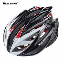 WEST BIKING Multi-Sport Helmet Cycling BMX Mountain Trinity Bicycle PVC 22 Air Vents Bicicleta Helmet Visor with Lining Pad Kask(China)