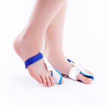 1 Pair Toe Straightener Bunion Adjuster Orthotics Hallux Valgus Corrector Foot Care Pedicure Tool Bone Thumb Toes Separator(China)