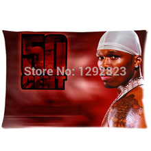 Brand New 50 Cent Custom Zippered Soft Flannel Pillow Case 20x30 (one side) PC-867(China)
