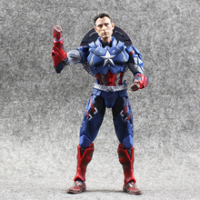 1pcs 16cm Hot Movie The Avengers Captain America 1/6 Joint movable PVC Action Figure Model Toys Doll for kids gift