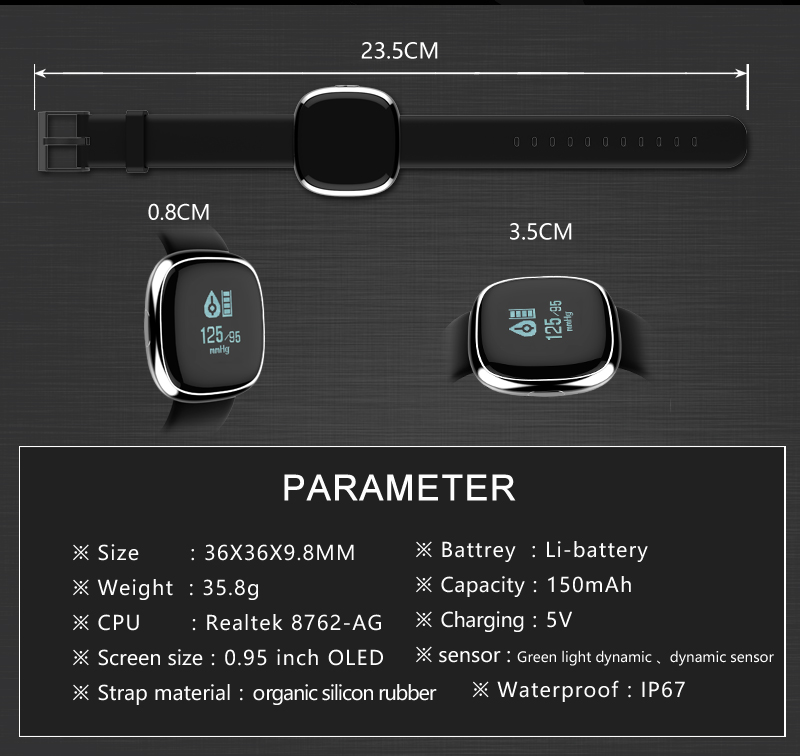 New Smart Wristband P2 Blood Pressure Heart Rate Monitor Smart Band Pedometer Sleep Sports Tracker for IOS Android Waterproof 14