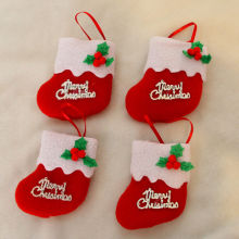 8*8cm Mini Christams Stockings New Year Candy Bag Stocking Hanging Christmas Tree Decoration Christmas Ornament 1pc