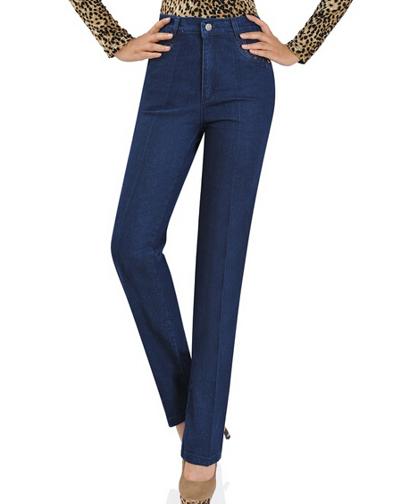 Jeans for women straight pants full length denim female trousers elastic mid waist spring autumn casual plus size jeans bjz0501Одежда и ак�е��уары<br><br><br>Aliexpress