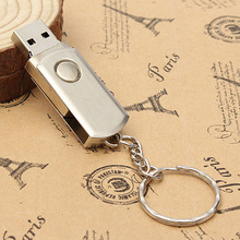 Stainless Steel USB Flash Drive 8G 16G 32G Pen Drive 1G 2G 4G U Disk Key Chain Style Memory Stick 100% Real Capacity Thumb Disk