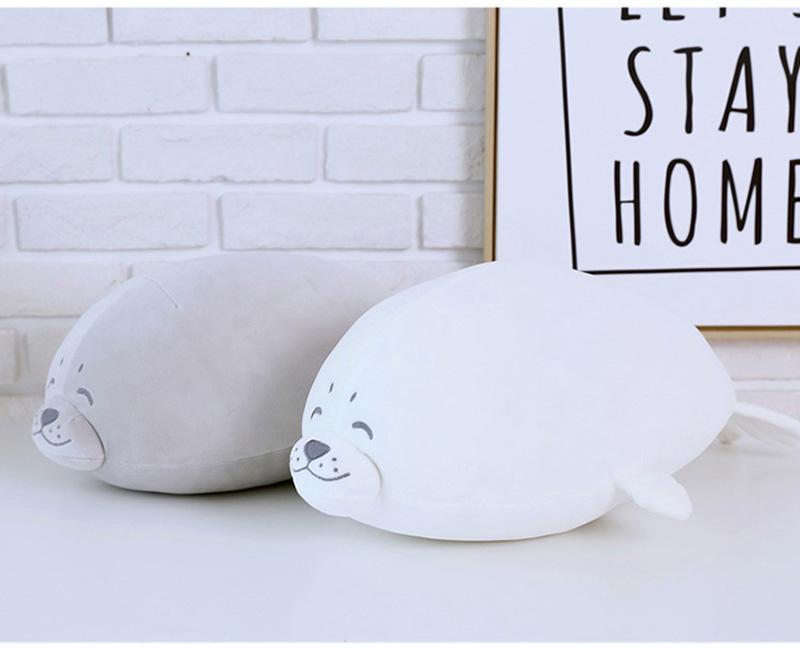 1pcs Cute Soft Animal Sea Lion Doll Baby Sleeping Pillow Marine Animals Seal Plush Toy Kids Stuffed Toys Gift (16)