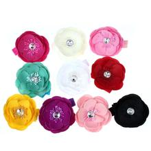 10PC s Girls headband Cloth kids flowers hairwear Elastic Headband Flower Photography hair clips hair bow accessories(China)