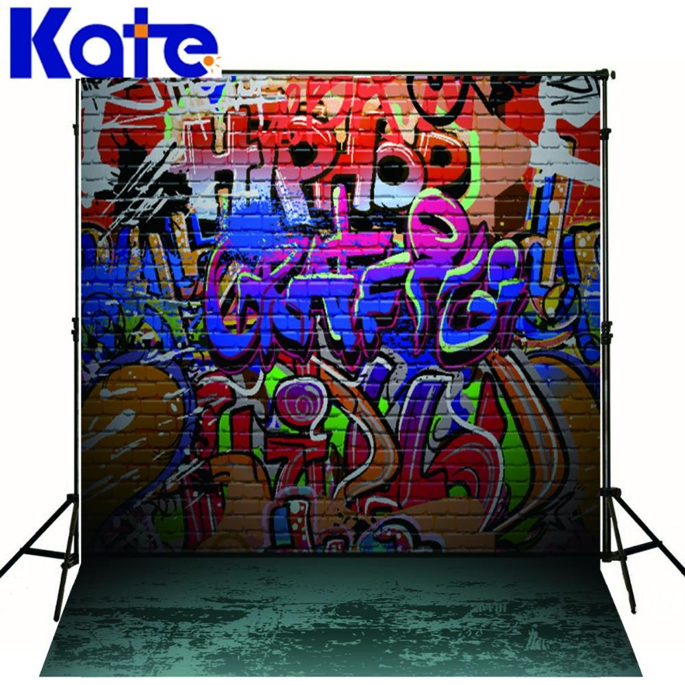 Kate Photography Backdrops Graffiti Wall Photo Background Colorful Letters Studio Backdrop For Children<br>