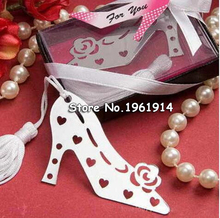 20Pcs/Lot Unique Design Stylish Book Lovers Collection Shoe Bookmark Bridal Wedding Favors and Gift For Guest Table Centerpieces