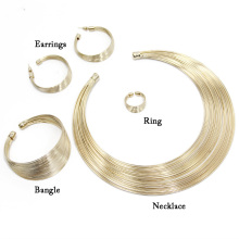 FORMU Fashion collection Jewelry Set Include Necklace Bangle Ring Earrings Women Accessories Statement Necklace Wholesale NK544