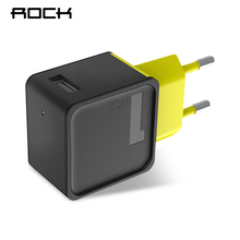 ROCK Sugar Single USB Port 5V 1A Wall Travel Home Charging Power EU Plug Adapter for iPhone Samsung Mobile