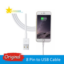100% Genuine Original 8 Pin to USB Charging Data Cable for iPhone 5 5s 6 6s 7 Plus iPad mini Air iPod for IOS7 IOS8 IOS9 IOS10(China)