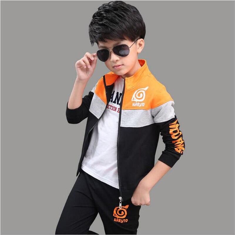 Children Set Sport Boy Coat + Pants Two Clothing Set 2Pieces/Set Boy Cotton Long Sleeve Patchwork Color Coat Boys Clothing Sets<br>