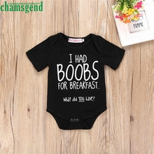 CHAMSGEND Best seller drop ship Newborn Infant Toddler Baby Boy Girl Letter Romper Jumpsuit Outfits Clothes S30