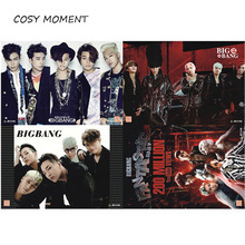 COSY MOMENT 8 pcs/set BIGBANG Embossed Posters Popular Korean KPOP brand Bigbang G-DRAGON Paintings Wall Sticker QT217