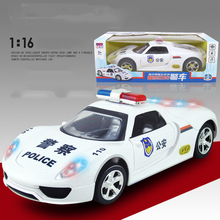2017 New Arrival 1:16 Mini Diecast Light & Sound Electric Police Toy Car Model Machine Kid boy Toy Gift Collection Brinquedos(China)