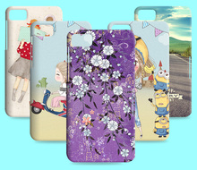Hot Sale Cartoon Lovely Patterns Flower Skin Plastic Hard Case Cover For blackberry Z10