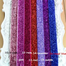 "200pcs/lot 26 Color 5/8"" Metallic Glitter Stretch Headband No Slip Wholesale Girls Christmas Hair Band DIY Hair Accessories HD20"