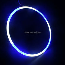 8PCS(4Pairs) COB 100mm Auto Halo Rings Angel Eye COB Chip Headlight 72 SMD Car Angel Eyes Motorcycle White+Blue Color 12V 24V