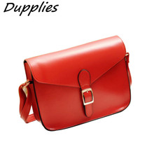 Dupplies Preppy Style Women's Handbag Leather Messenger Bag Female Briefcase Envelope Candy Color Small Crossbody Shoulder Bag