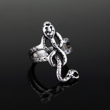 MQCHUN Vintage Silver Color Horcrux Voldemort Death Eater Snake Ring Nagini Slytherin(China)