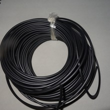 PMMA optical fiber coated with Black Sheath Inner diameter 3.0mm(4.5mm outer diameter) for Showcase
