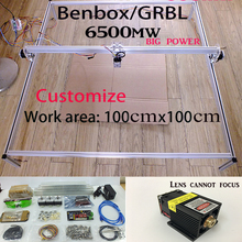 6.5w laser cutter Fancy laser carving 6500mw 100*100cm mini DIY laser engraving machine/IC mark/laser printer/carving work DHLsp
