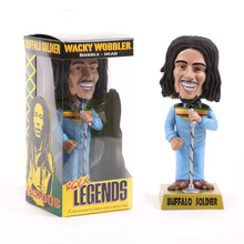 FUNKO Rock Legends Reggae Rasta Bob Marley Wacky Wobbler Bobble Head PVC Action Figure Collection Toy Doll