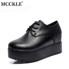 Buy MCCKLE Fashion Creepers Auntumn Platform Shoes Women Lace Slip Flats Ladies Casual Female Black Punk Style Shoes for $15.25 in AliExpress store