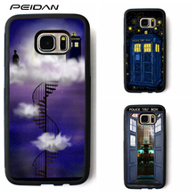 PEIDAN Doctor who stair tardis art cover case for samsung galaxy S3 S4 S5 S6 S7 S8 S6 edge S7 edge Note 3 Note 4 Note 5 #rr145(China)