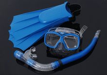Swimming Gear Scuba Anti-Fog Goggles Diving mask flippers Diving Glasses Snorkel spearfishing diving equipment mask to swim(China)