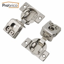 Probrico Wholesale 100 PCS Kitchen Cabinet Hinge Concealed Frame 1/4 Overlay Furniture Cupboard Door Hinge 3-Way Adjustment