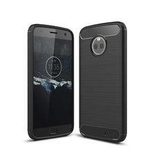 For Motorola X4 case Carbon Fiber Soft TPU Drawing Back Cover For Moto Z Z2 G4 Play Z Z2 Force Silicone case For Moto E3 G3(China)