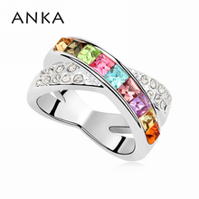 2017 Sale Jewelry Crystal cross ring For Women Fashion Solitaire Ring Set Gp Crystals from SWAROVSKI #96679(China)